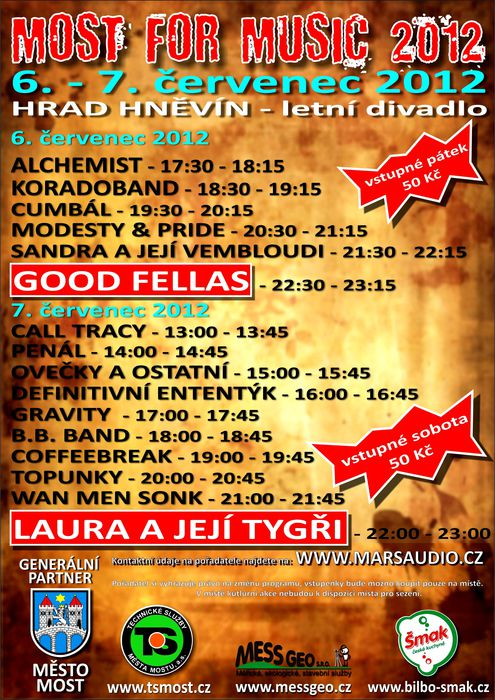MOST FOR MUSIC(6.7.2012 - hrad Hněvín - MOst)