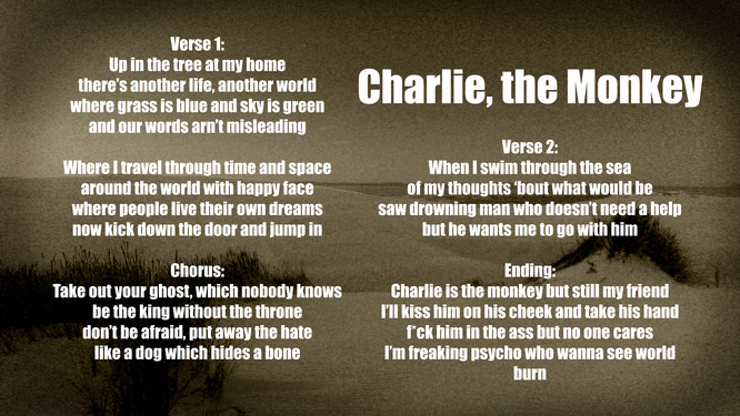 Charlie,the Monkey text