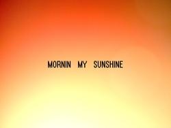 Profilový obrázek Mornin my sunshine