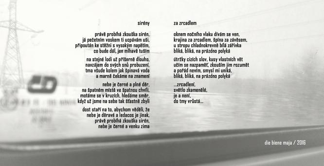 sirény / za zrcadlem - texty