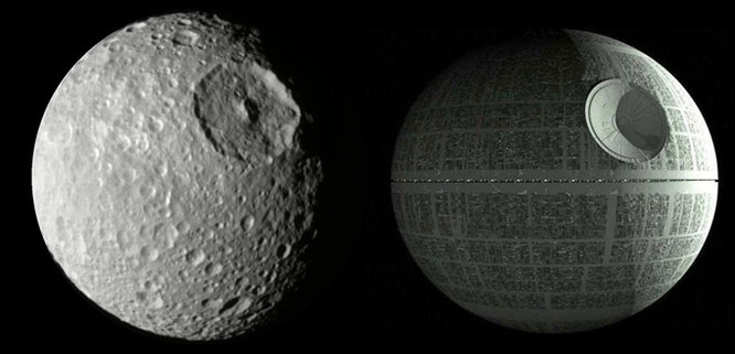 Death Star and Mimas