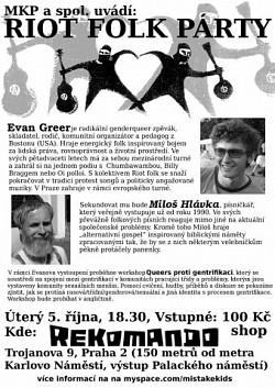 Profilový obrázek 5.10. E.Greer/RIOT FOLK v Praze