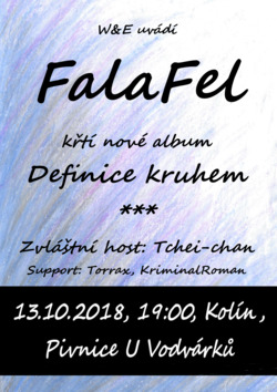 Profilový obrázek Křest alba DEFINICE KRUHEM kapely FalaFel, zvláštní host Tchei-chan