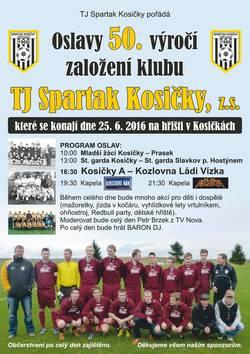 Profilový obrázek Oslavy 50. výročí založení klubu TJ Spartak Kosičky