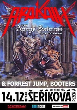Profilový obrázek Arakain – Apage Satanas Tour: 20 let od vydání + Forrest Jump, Booters