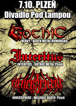 Profilový obrázek Koncert Gothic (RO), Interitus a Innersphere v Lampě !