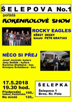 Profilový obrázek Rocky Eagles: Křest CD + Něco si přej - Šelepka
