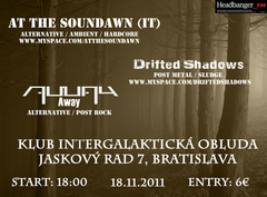 Profilový obrázek At The Soundawn + Drifted Shadows + AWAY + afterparty