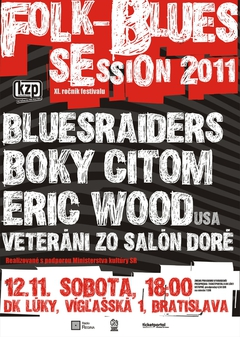 Profilový obrázek Folk- Blues Session 2011 BLUESRAIDERS, BOKY CITOM, ERIC WOOD (USA), VETERÁNI ZO SALÓN DORÉ