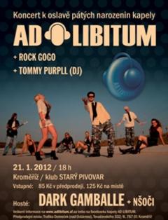 Profilový obrázek Oslava 5. narozenin kapely Ad Libitum