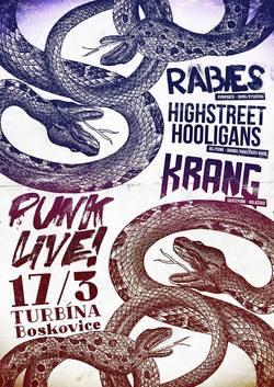 Profilový obrázek PUNK LIVE / Rabies, Krang, Highstreet Hooligans!