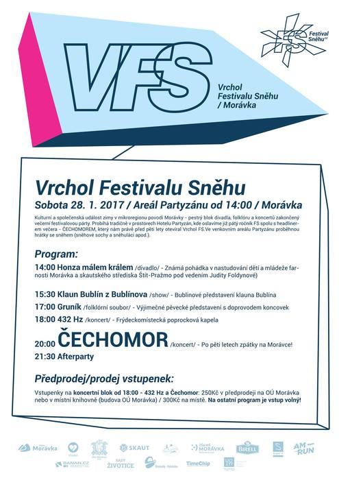 Vrchol Festivalu sněhu 2016/17 ČECHOMOR 432 Hz