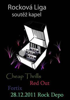 Profilový obrázek Rocková Liga, Cheap Thrills, Fortix, Red Out