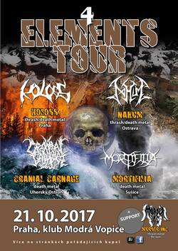 Profilový obrázek 4 Elements Tour 2017 (Mortifilia, Nahum, Cranial Carnage & Koloss) + Murder Inc.
