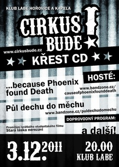 Profilový obrázek Křest CD Cirkus Bude! + hosté