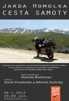 Profilový obrázek Cestopisné vyprávění a promítání fotografií Jardy Homolky o své cestě na motorce na Východ, nad knihou  100 DAYS OF RIDING MAD N
