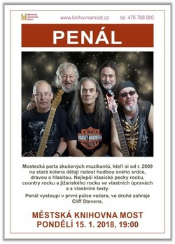 Profilový obrázek Koncert Cliffa Stevense, jako support Penál