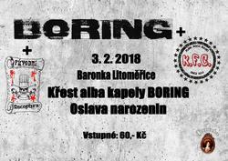 Profilový obrázek Křest alba kapely Boring + koncert KFC a Původní Receptura