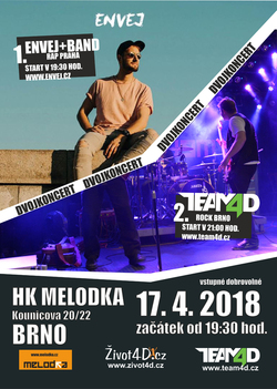 Profilový obrázek Dvojkoncert Envej a Team4D, Brno Melodka