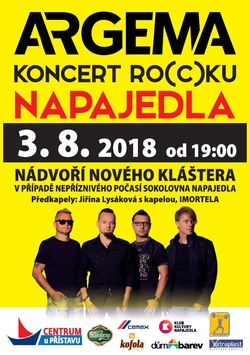 Profilový obrázek Argema koncert Ro(c)ku + Jiřina Lysáková + Imortela