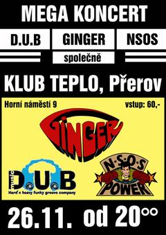 Profilový obrázek GINGER, DUBmusic a NSOS společně v klubu TEPLO !