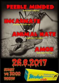 Profilový obrázek FEEBLE MINDED + INCARNATE + AMOK + ANIMAL HATE