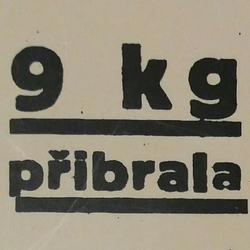 Profilový obrázek 9 kg přibrala
