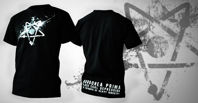 992744887ce Pánské tričko černé barvy s oboustranným potiskem. Složení  100% bavlna.  Značka Fruit of the Loom. Rozměry v centimetrech cca.