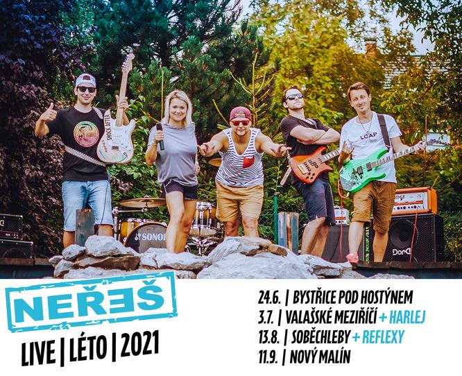 NEŘEŠ / LIVE / LÉTO / 2021