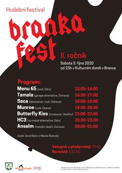Profilový obrázek Hudební festival BrankaFest 2.ročník 3. 10. 2020