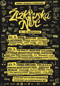Profilový obrázek Žižkovská noc 2019 @ Modrá Vopice (punk / thrash metal / grind / fastcore)