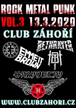 Profilový obrázek Rock - Metal - Punk Koncert Vol. 3 V Club Záhoří Prostějov