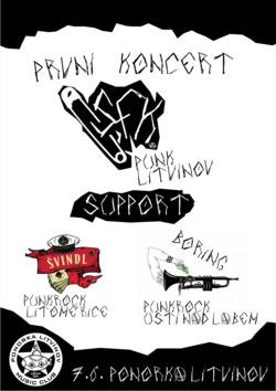 Profilový obrázek První koncert SFK + Švindl + Boring v Ponorce