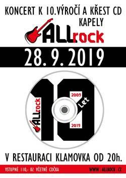 Profilový obrázek Křest CD + 10 let ALLrock