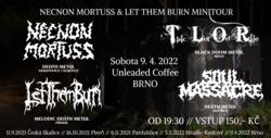 Profilový obrázek Necnon Mortuss & Let Them Burn mini tour 2021 jarní metal v Unleaded Coffee