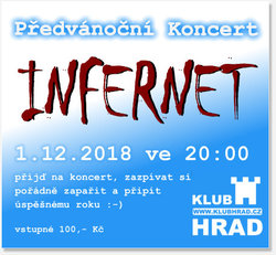 Profilový obrázek Předvánoční koncert INFERNET